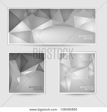 Cards with geometric design