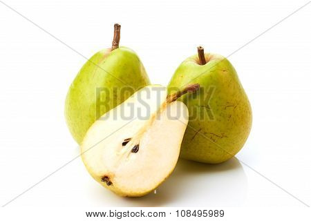 Two pears and half