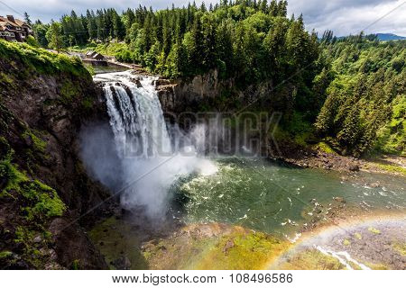 The Beautiful Snoqualmie Waterfall in the Great Pacific Northwest, USA.