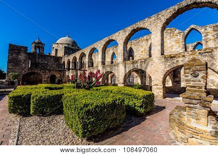 The Historic Old West Spanish Mission San Jose, Founded in 1720, San Antonio, Texas. National Park.