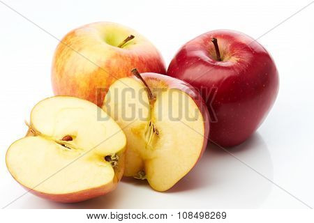 Two apples and two half