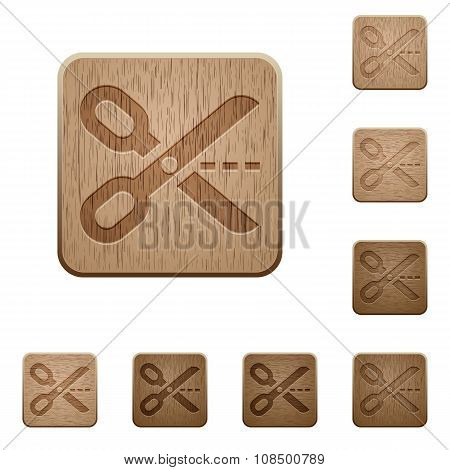 Cut Out Wooden Buttons