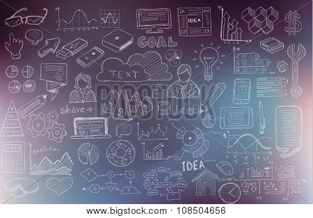 Business Development concept background wih Doodle design style :finding solution, brainstorming, creative thinking, infographics. Modern style illustration for web banners, brochure and flyers.