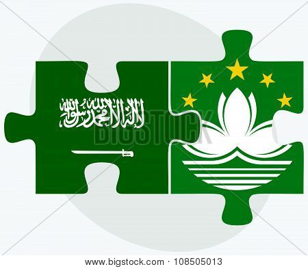 Saudi Arabia And Macau Flags