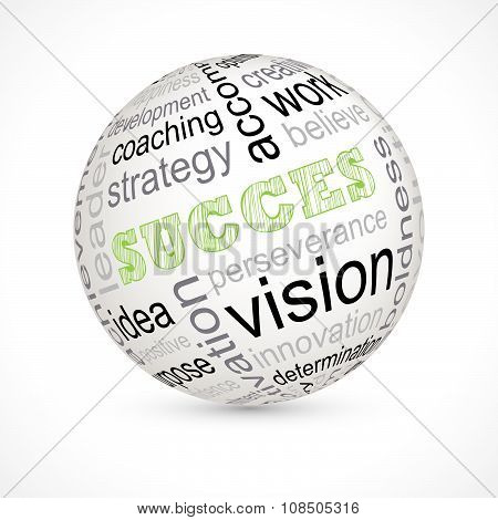 Success Theme Sphere With Keywords