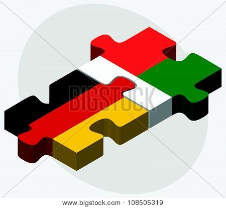 Germany And Madagascar Flags