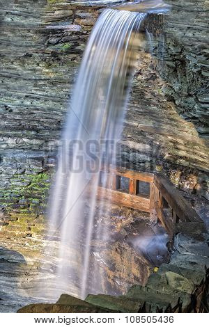 Cavern Falls At Sunrise