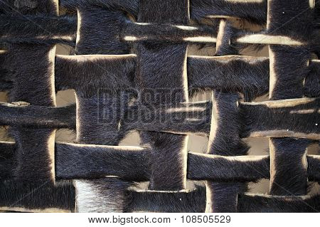 Leather Stripes As Texture
