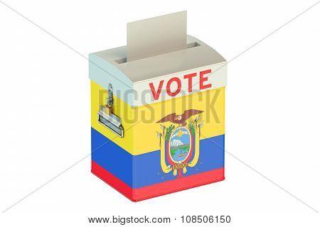 Ecuador Election Ballot Box For Collecting Votes