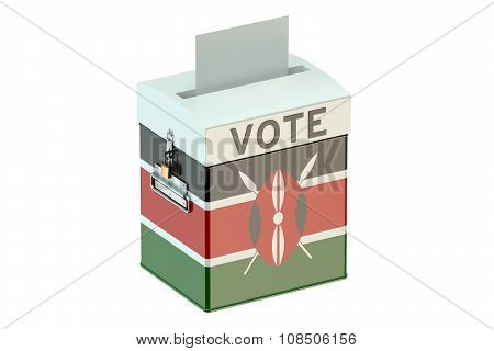 Kenya Election Ballot Box For Collecting Votes