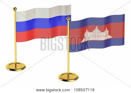 Meeting Cambodia With Russia Concept