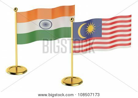 Meeting India With Malaysia Concept