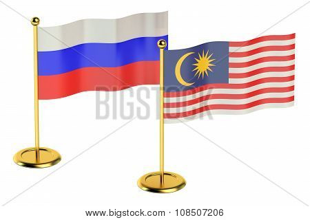 Meeting Malaysia With Russia Concept