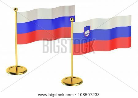 Meeting Slovenia With Russia Concept