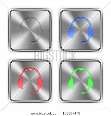 Color Headset Steel Buttons