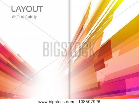 Abstract color light background easy editable