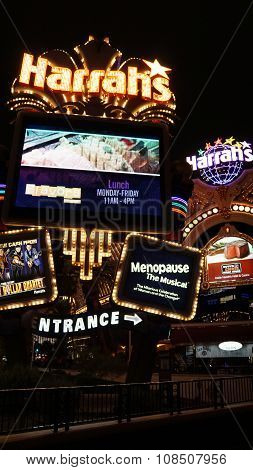 Harrah's Hotel and Casino on the famous Strip in Las Vegas, Nevada