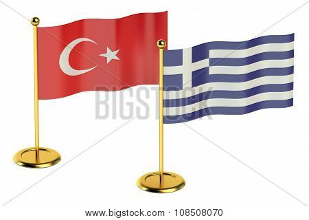 Meeting Turkey With Greece Concept
