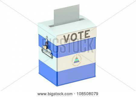 Nicaragua Election Ballot Box For Collecting Votes