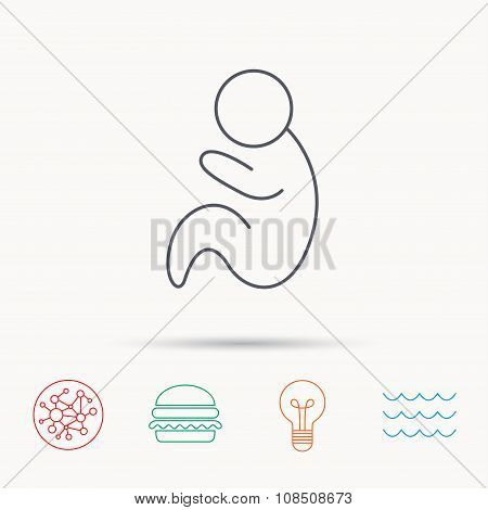 Baby infant icon. Pediatrics sign.