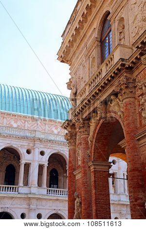 Ancient Palace Called Loggia Del Capitaniato In Vicenza City In Italy