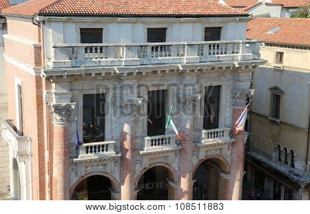 Ancient Palace Called Loggia Del Capitaniato In Vicenza City