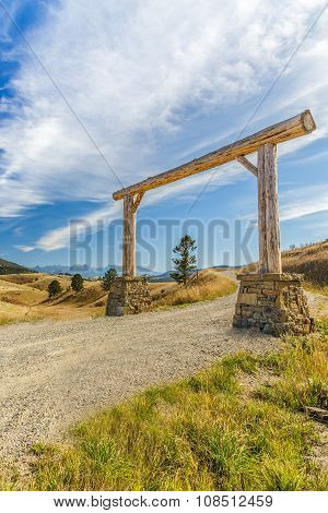 Wooden Arch Entrance
