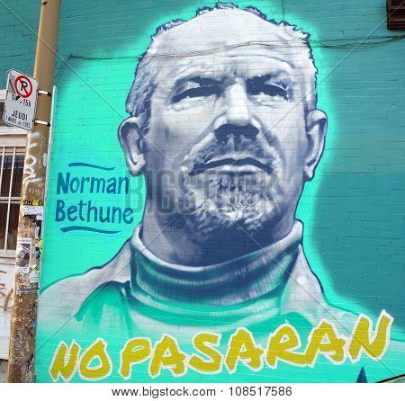 Street art Henry Norman Bethune