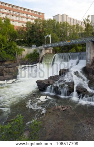 river water fall dam