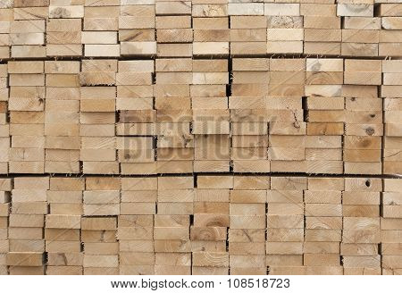 wooden planks side view