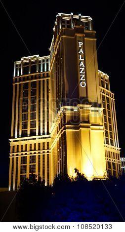 The Palazzo luxury hotel and casino resort in Las Vegas