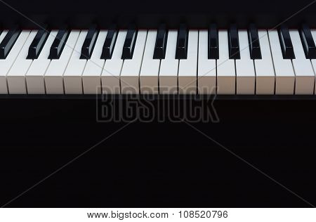 piano keyboard black background