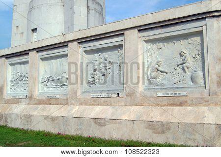 Quezon City Memorial Circle Art Sculpture in Quezon City, Philippines