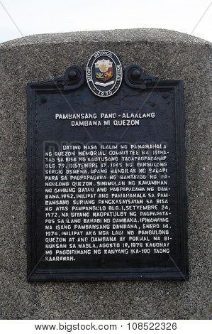 Quezon City Memorial Circle Marker in Quezon City, Philippines