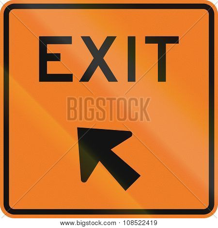 New Zealand Road Sign - Exit Sign