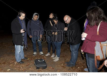 Brooklyn Paranormal Society During Investigation Of Mount Misery Road