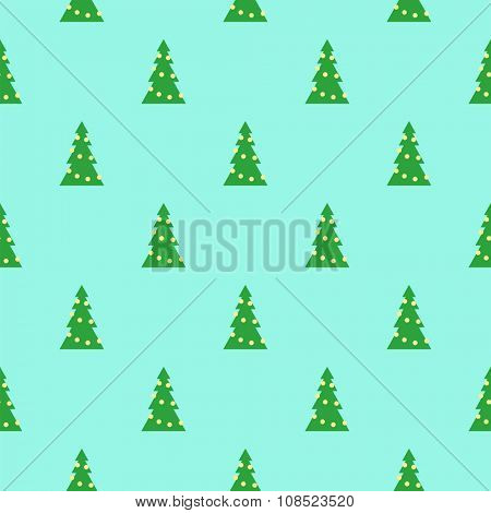 Flat background with christmas tree