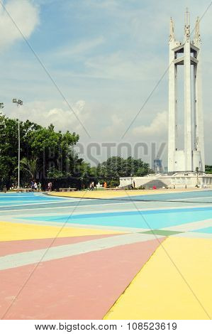 Quezon City Memorial Circle Shrine in Quezon City, Philippines
