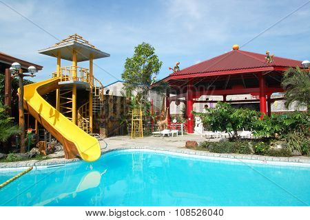 cherubin Gardens swimming pool in Bulacan, Philippines