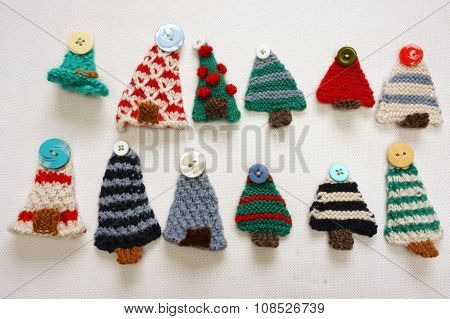 Handmade Product, Holiday, Knitting Ornament, Christmas