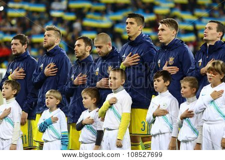 Players Of National Football Team Of Ukraine
