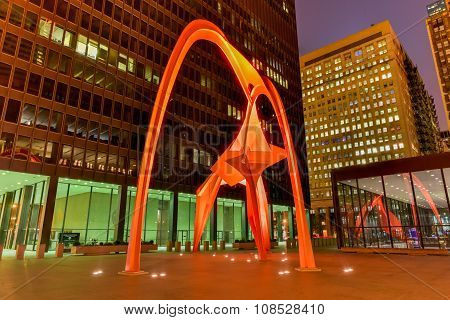 Flamingo Sculpture - Federal Plaza - Chicago
