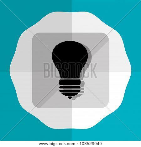 Bulb idea Round icon graphic