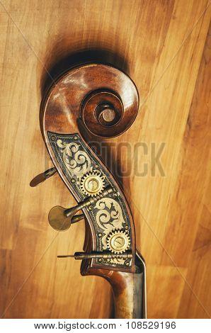 Cello Details Classic Musical Instrument