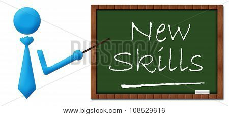 New Skill Human With Greenboard