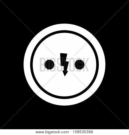 The Electrical Outlet icon. Socket symbol. Flat