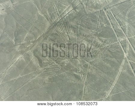 Aerial View Of Nazca Lines Geoglyphs In Peru