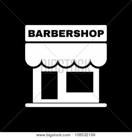 The barbershop building icon. Barbershop symbol. Flat