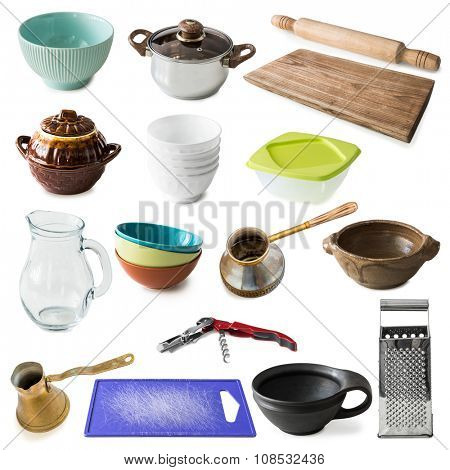 collage of many different kitchenware
