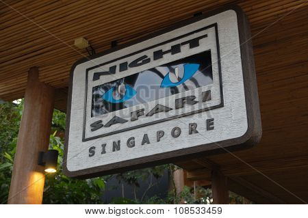 Night Safari Sign in Singapore